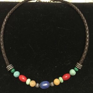 Carolyn Pollack turquoise coral necklace